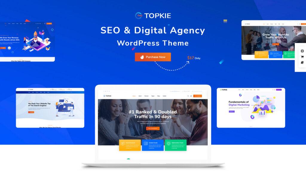 Topkie – SEO Digital Agency WordPress Theme
