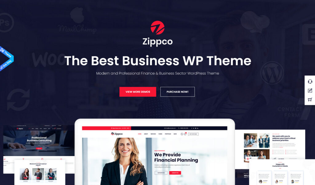 Zippco Themeselector – Business and Finance Consulting WP Theme