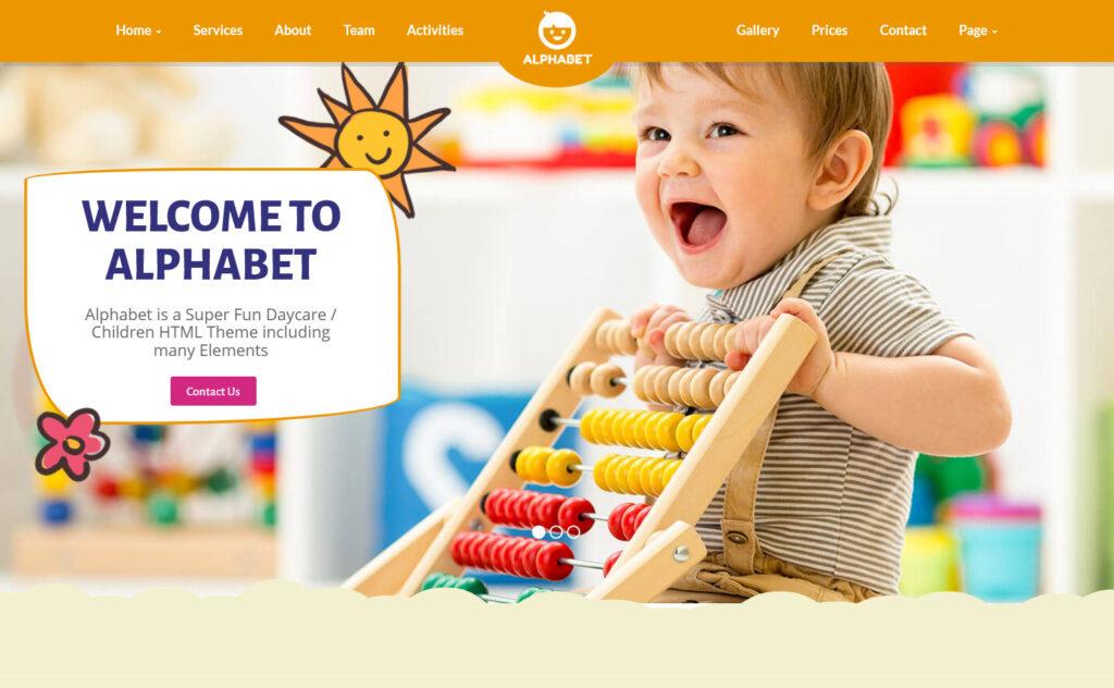 Alphabet Daycare WordPress Themes