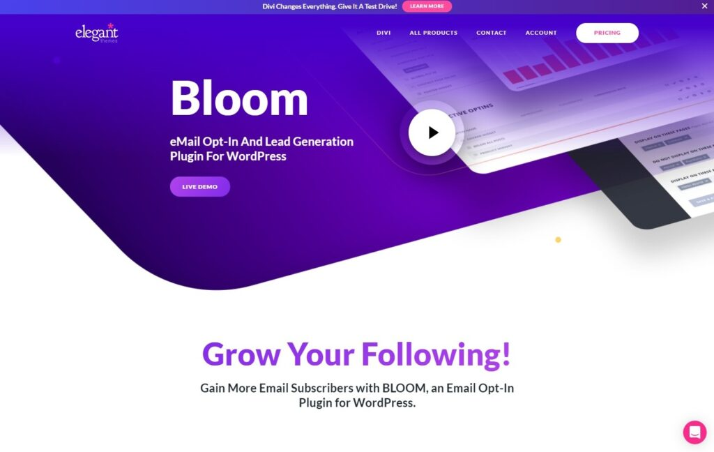 Bloom Email Opt In Plugin For WordPress