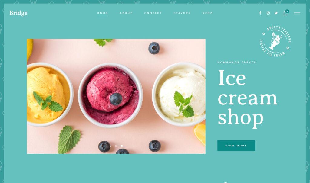 Bridge Gelato Shop WordPress Theme