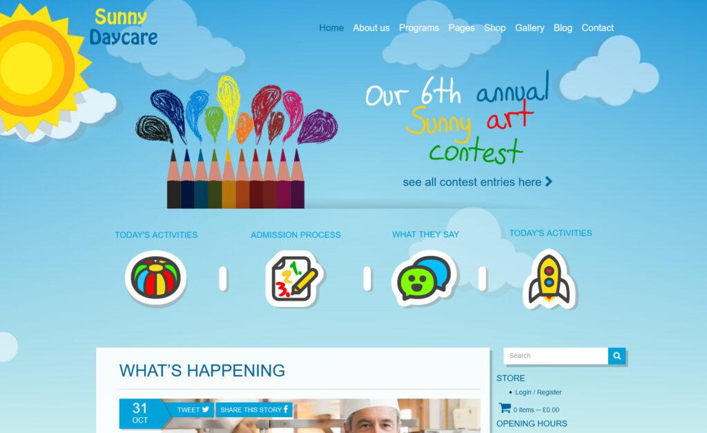 Daycare Kindergarden and Elementary School WordPress Theme