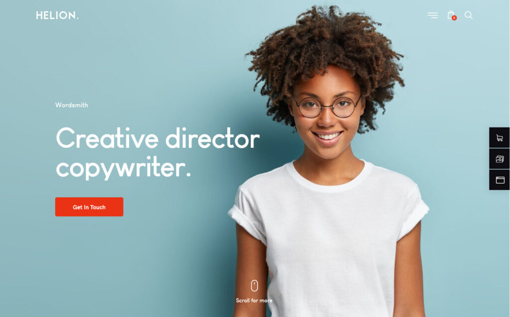 Helion Copywriting Theme with Built In Newsletter