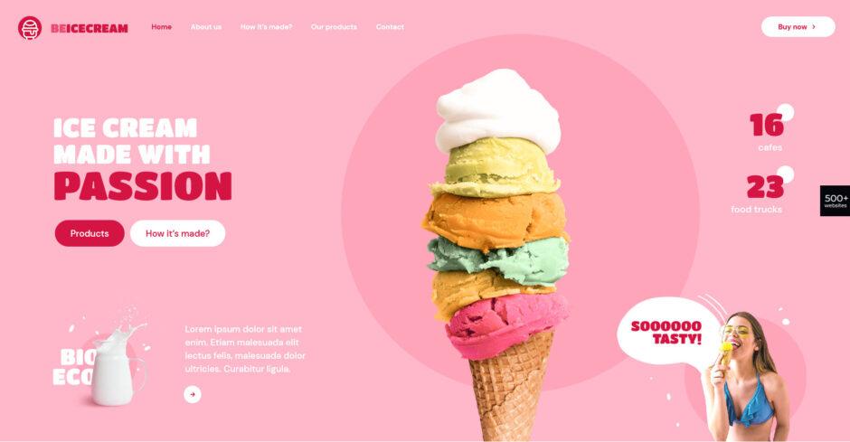 Ice Cream Parlor WordPress Themes