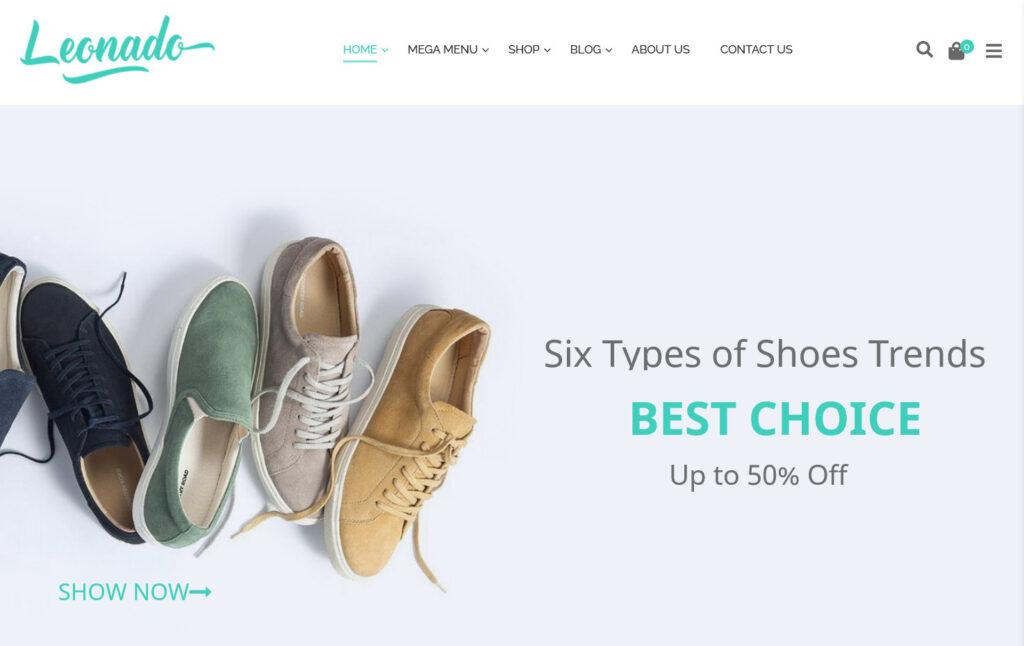 Leonardo T Shirt Store WordPress Themes