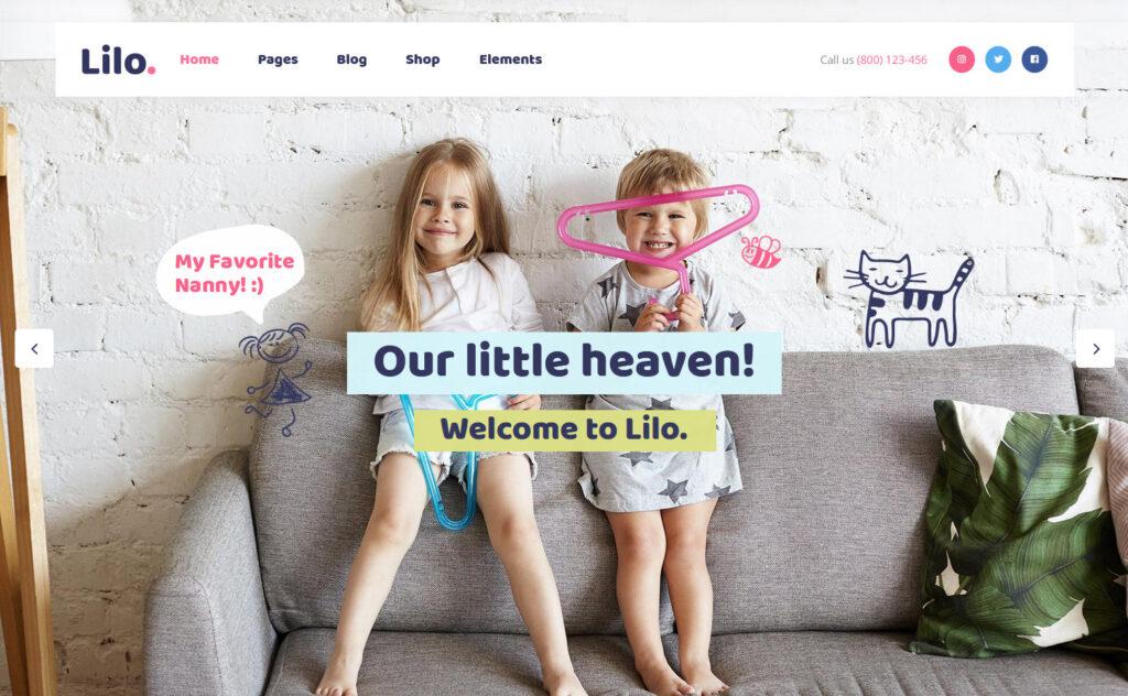 Lilo WordPress Theme for Daycare Centers