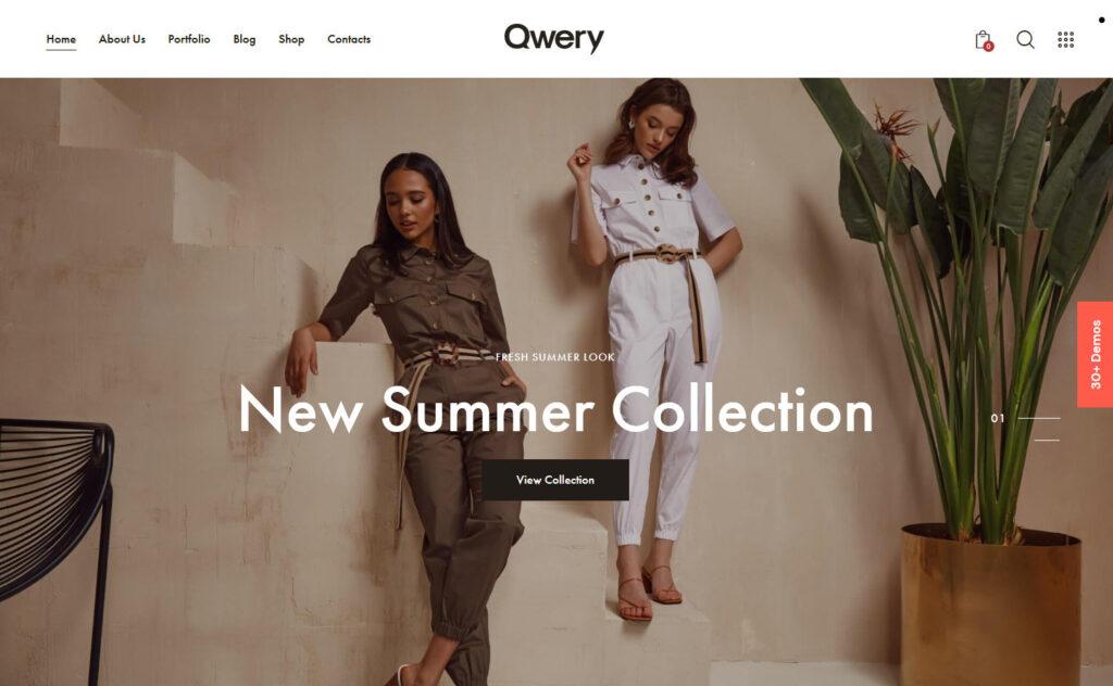 Qwery Fashion – The Ultimate Multipurpose WordPress Theme