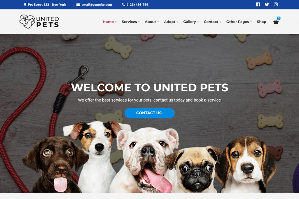 United Pets Pet Shop Veterinary WordPress Theme