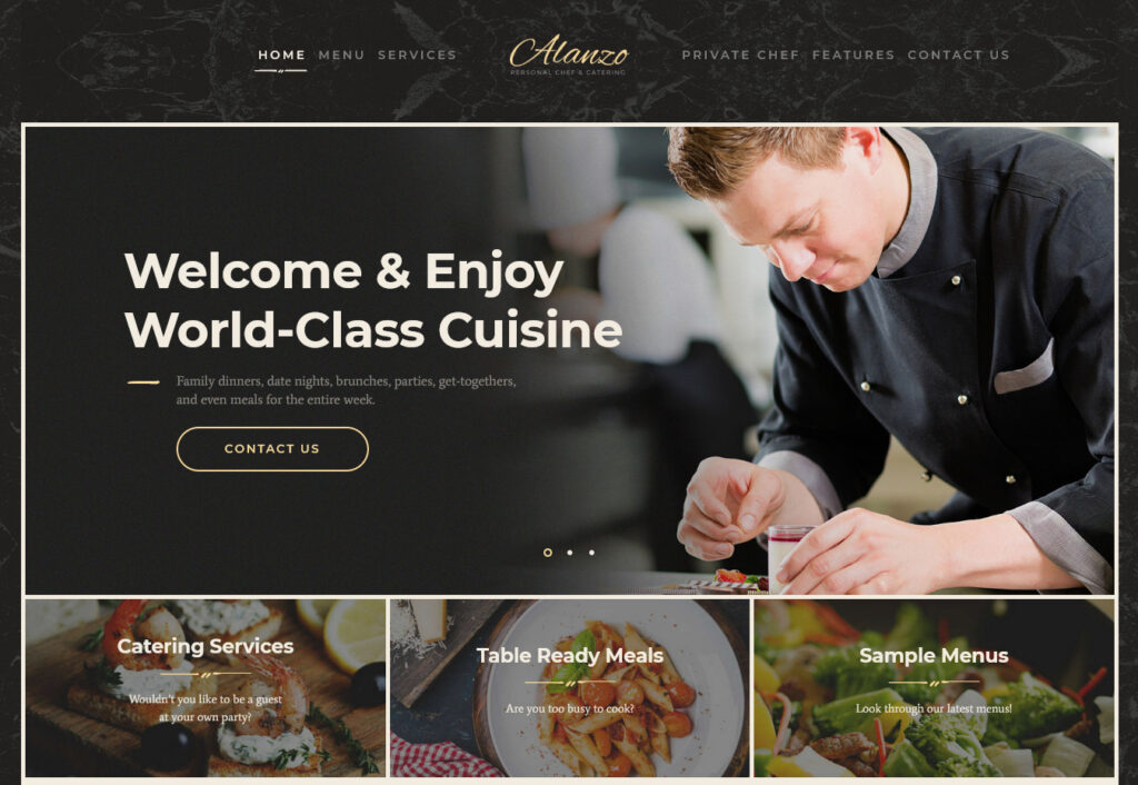 Alanzo – Personal Сhef Catering – Just another WordPress site