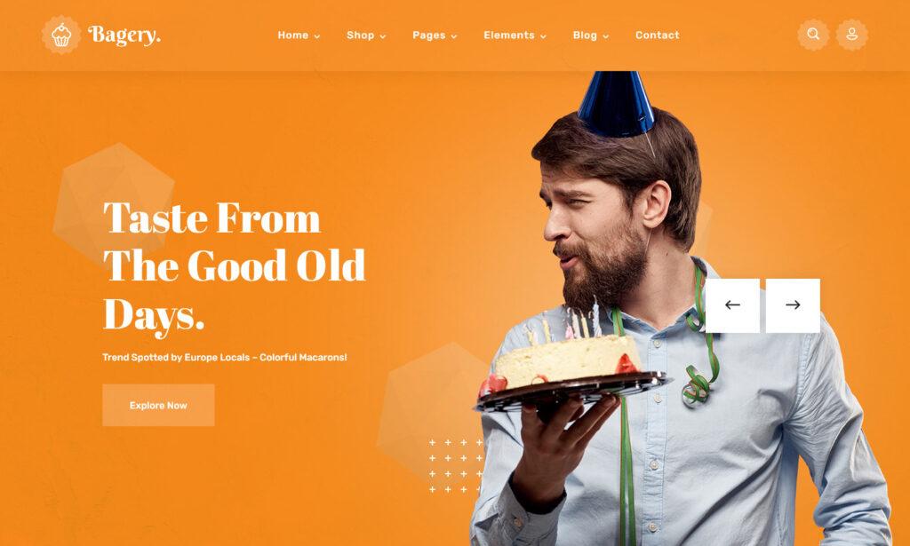 Bagery Ice Cream Shop WordPress Theme