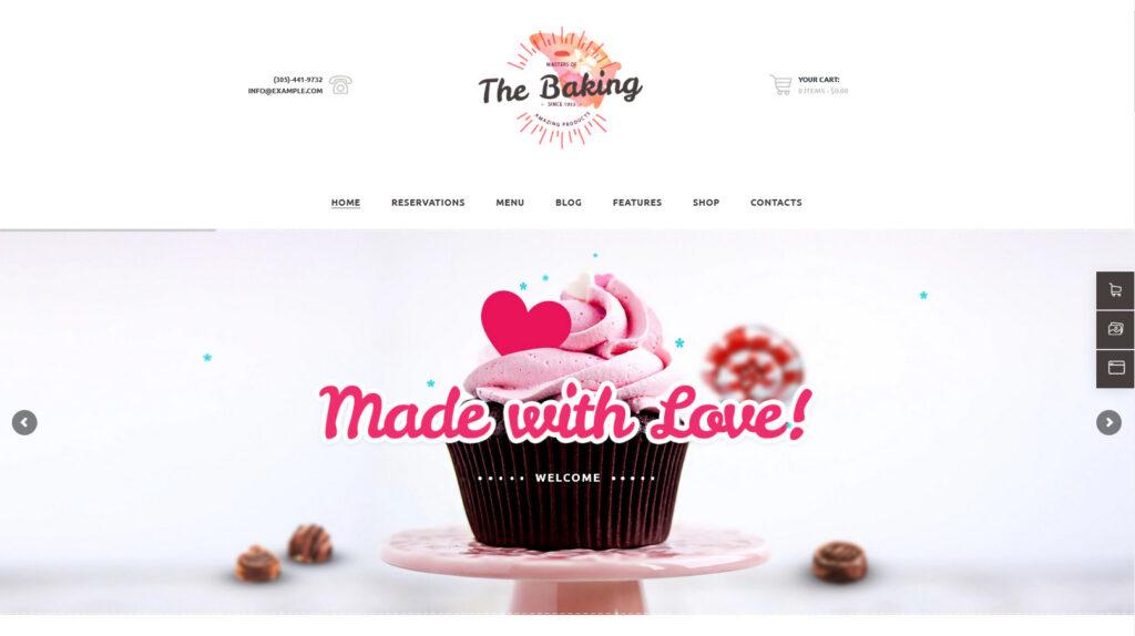 Bakery Cake Shop Cafe WordPress Theme