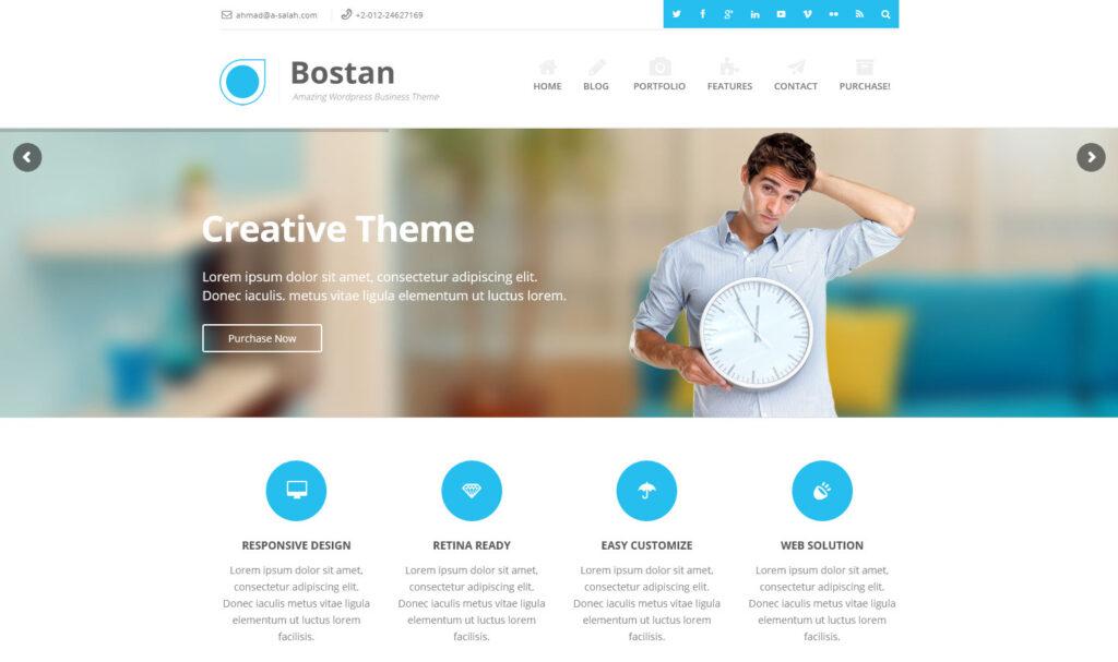 Bostan WordPress Theme For Business.