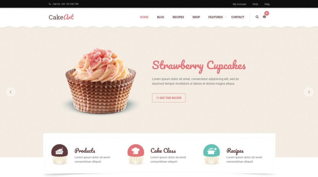 CakeArt – Bakery Cake WordPress Theme