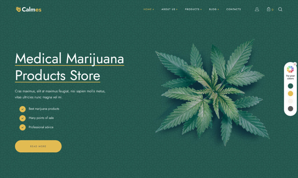 Calmes Marijuana Store WordPress Theme