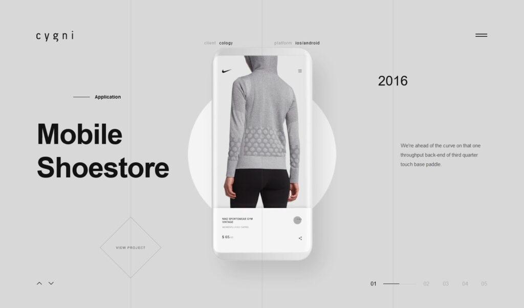 Cygni – Light – Interactive Portfolio Showcase Theme