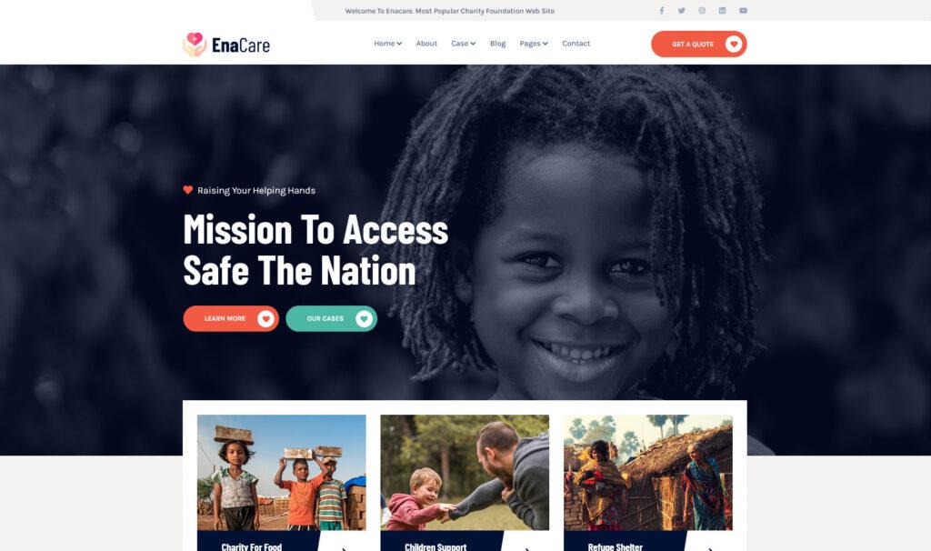 EnaCare – NonProfit Charity Foundation WordPress Theme