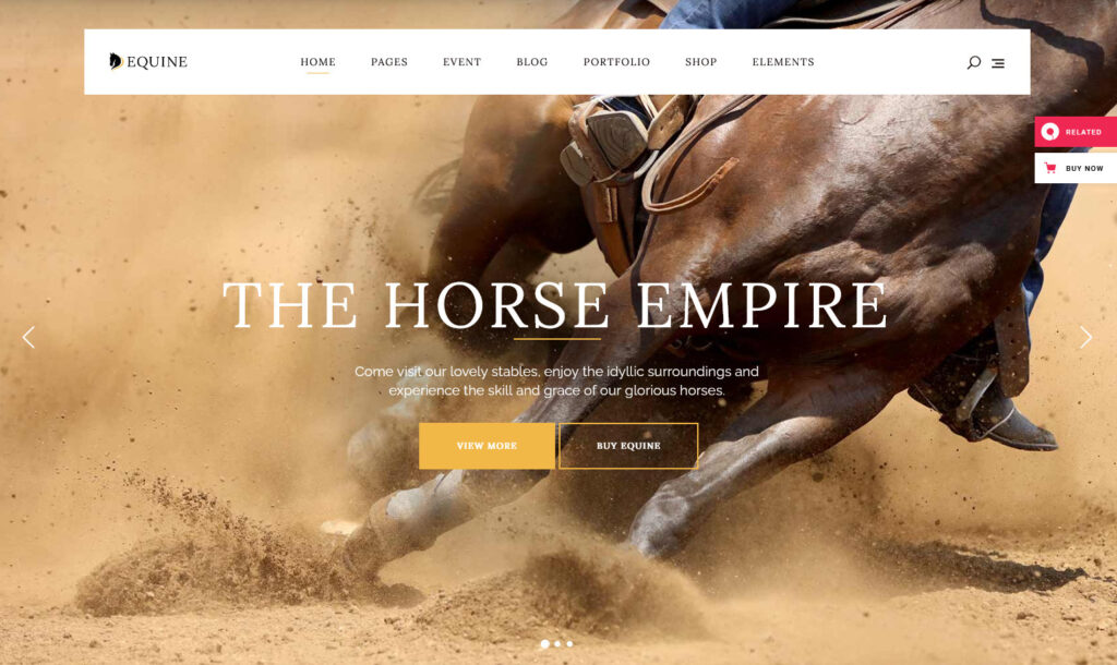 Equine – Equine – An Equestrian and Horse Riding Club Theme