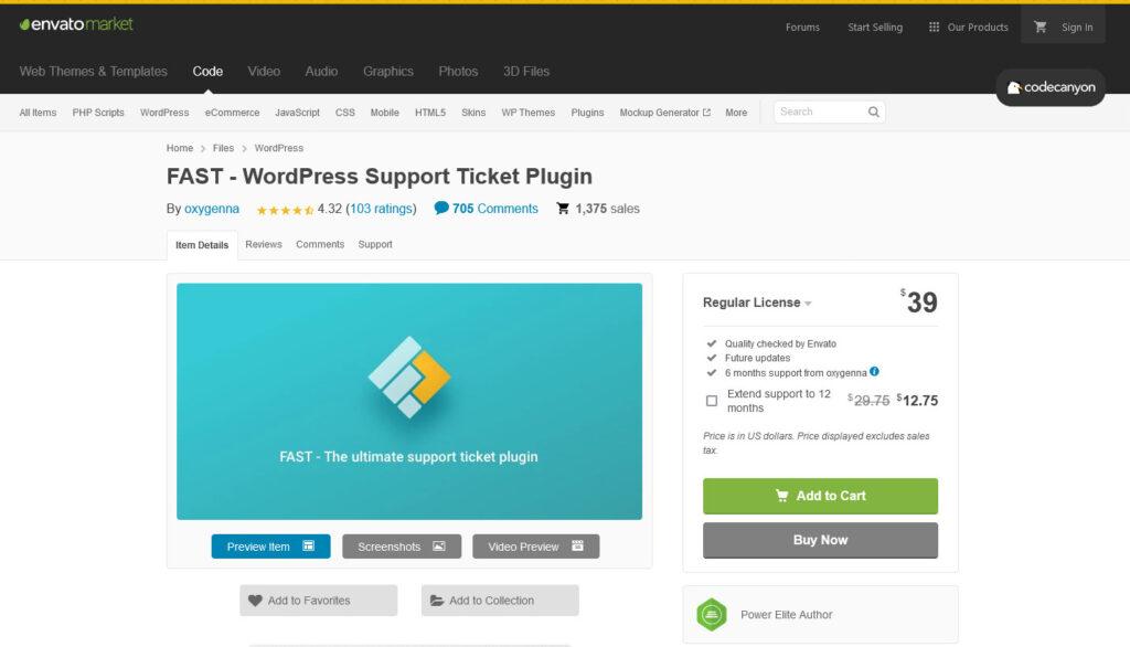 FAST WordPress Support Ticket Plugin by oxygenna CodeCanyon
