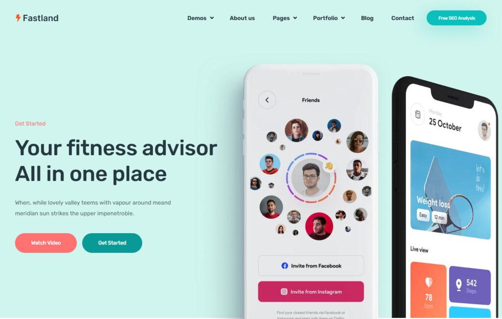 Fastland Startup SaaS WordPress Theme