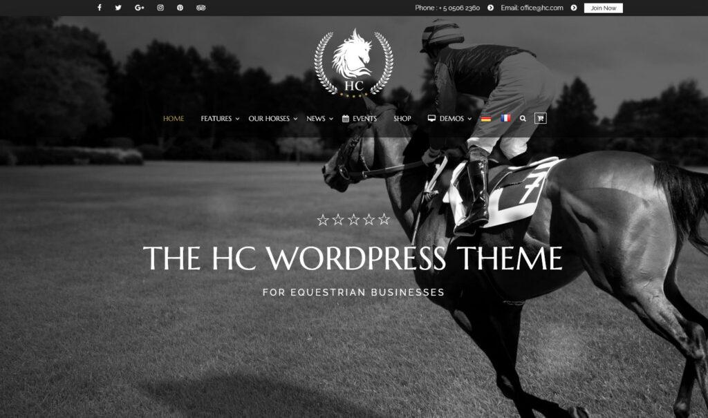 Horse Club – My WordPress Blog for Horse training