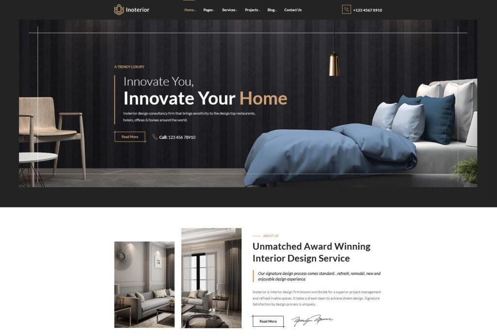 Inoterior Architecturer WordPress for Interior Designer