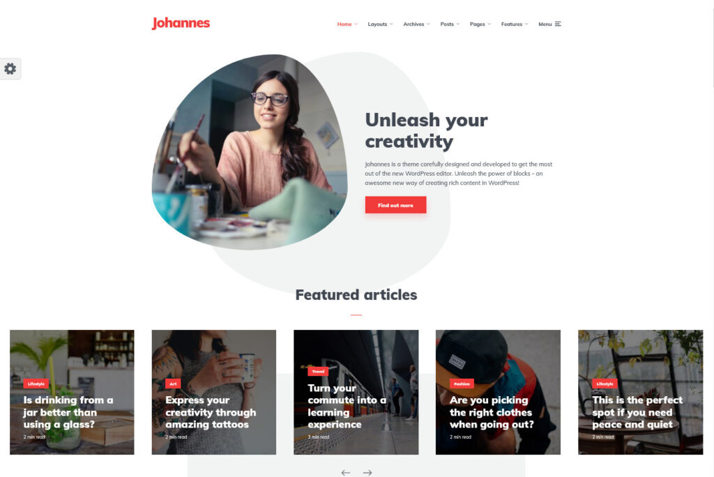 Johannes – Multi concept personal blog magazine WordPress theme