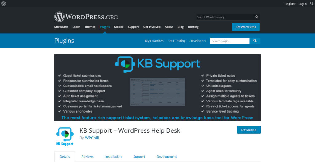 KB Support – WordPress Help Desk – WordPress plugin WordPress.org