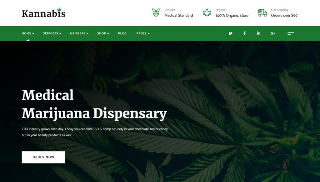 Kannabis – Medical Marijuana WordPress Theme