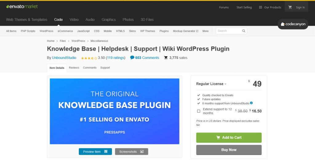 Knowledge Base Helpdesk Support Wiki WordPress Plugin by UnboundStudio
