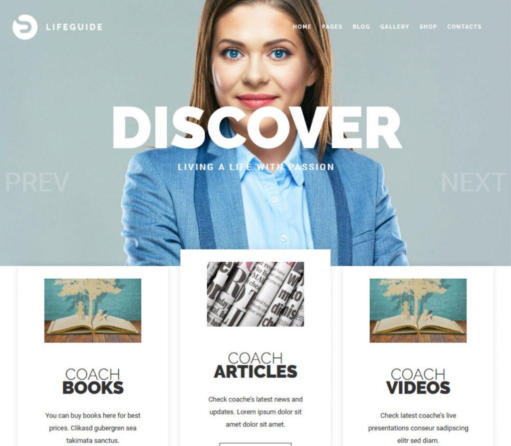 LifeGuide Public and Motivational Speaking WordPress Theme