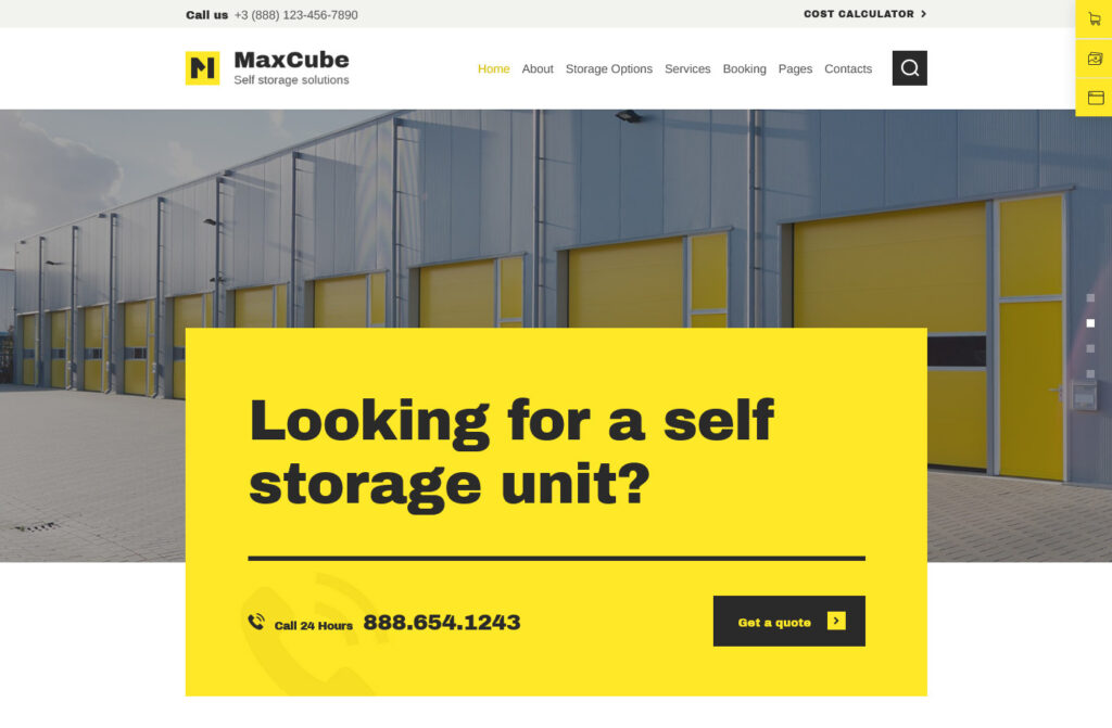 MaxCube Moving and Self Storage Relocation Business WordPress Theme