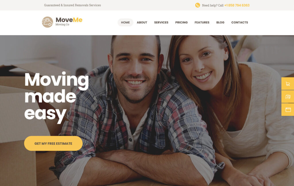 Move Me Moving Storage Relocation Company WordPress Theme