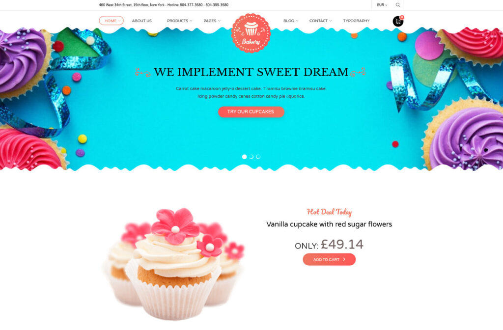 Noucake Bakery WordPress Theme