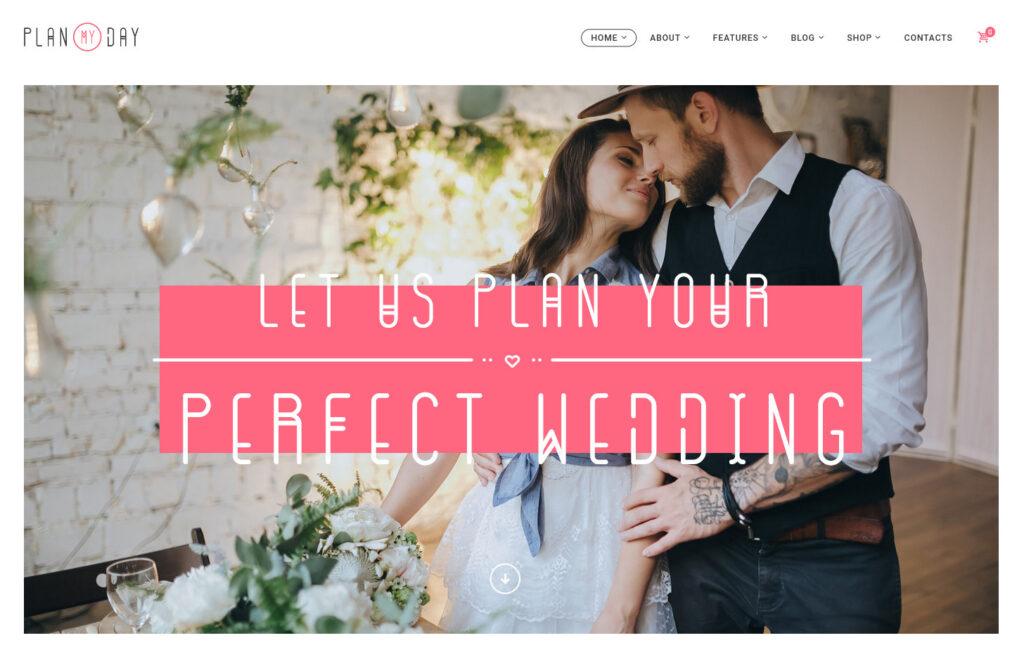 PlanMyDay – Wedding Event Planning Agency WordPress Theme