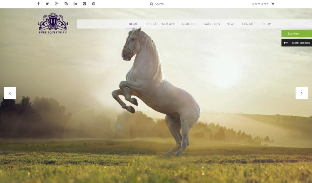 Pure Equestrian Horse And Stable Yard Management WordPress Theme