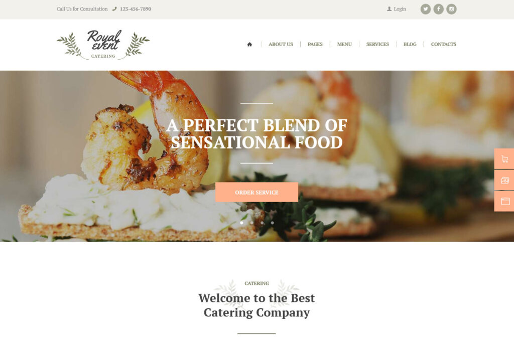 Royal Event Events and Banquet Hall WordPress Theme