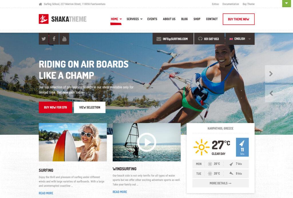 Shaka Beach Business WordPress Theme Demo