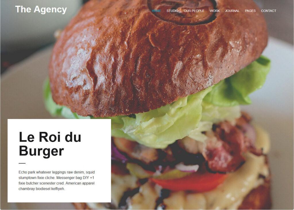 The Agency Clean Crisp Portfolio WordPress Theme