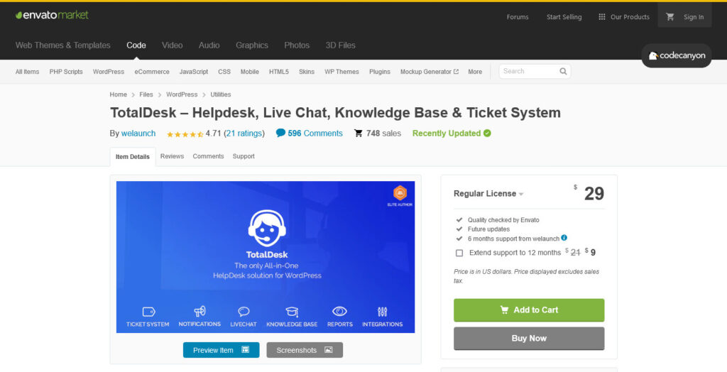 TotalDesk – Helpdesk Live Chat Knowledge Base Ticket System by welaunch
