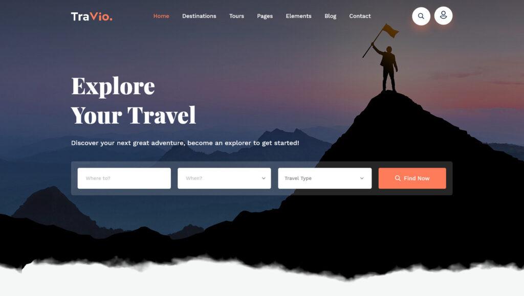 Travio Premium Travel Agency WordPress Theme