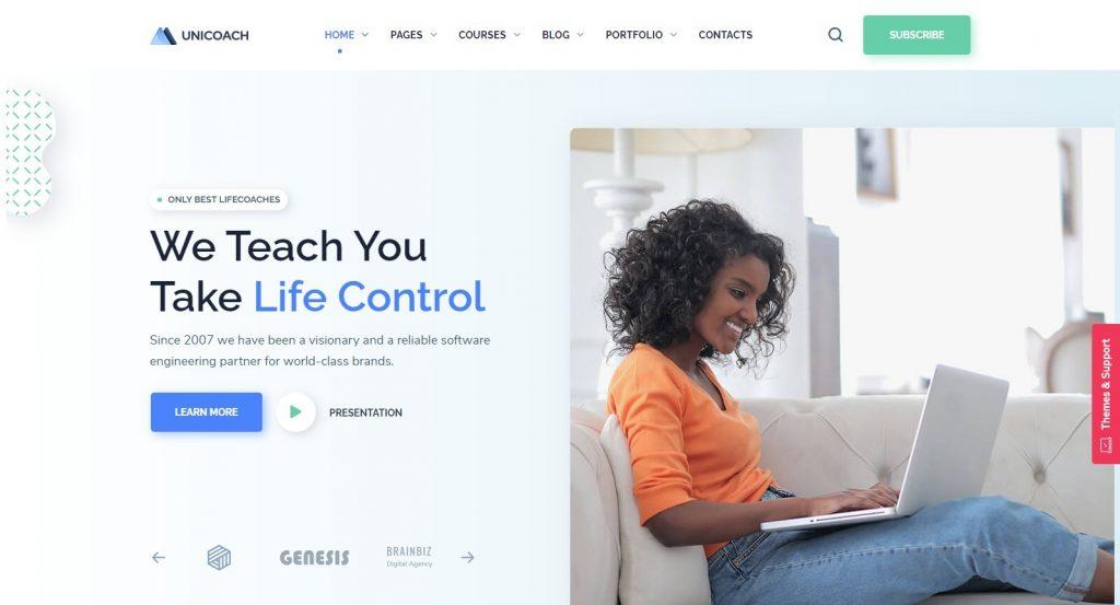 UniCoach Life Coach WordPress Theme