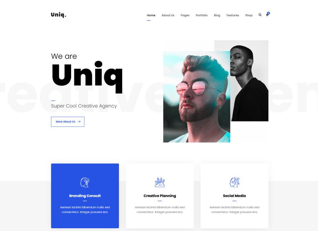 Uniq Minimal Creative WordPress Theme