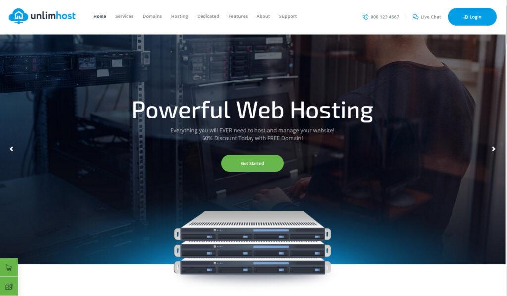 UnlimHost – Web Hosting Internet Technology WordPress Theme