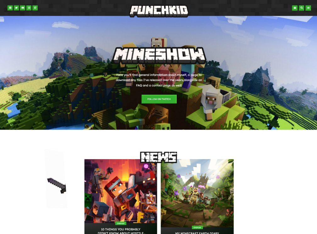 YourWay Minecraft Player and Server WordPress Theme