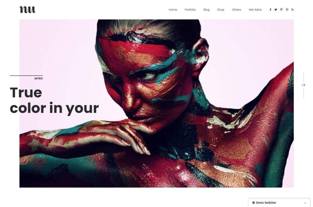 Adios Graphic Design Portfolio Theme with Lots of White Space