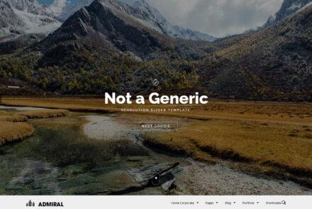 Admiral Unique WordPress Theme with Six Premade Designs