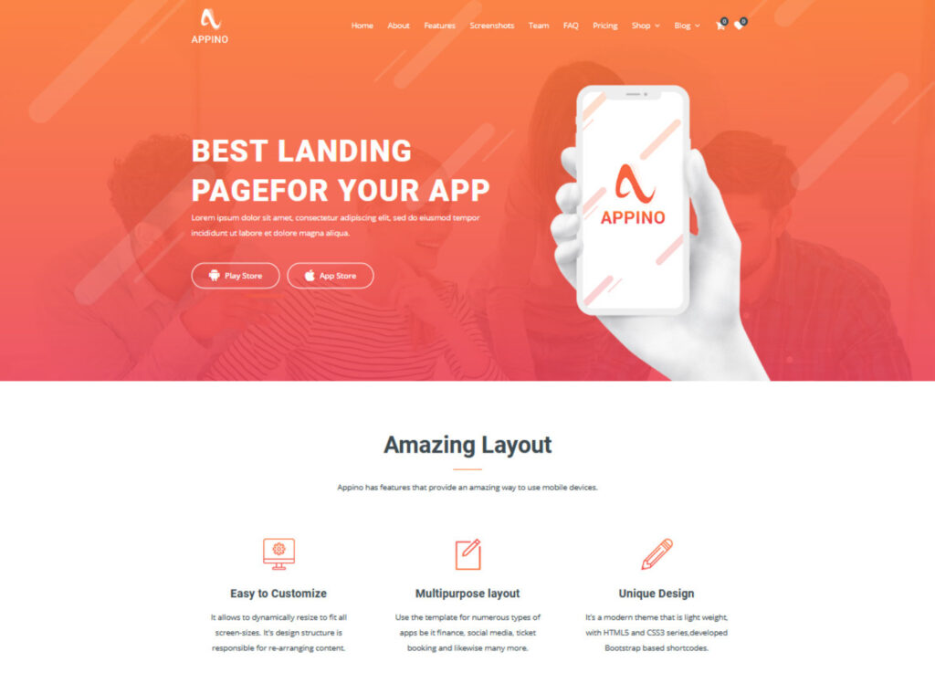 Appino Creative WordPress App and SaaS Squeeze Page