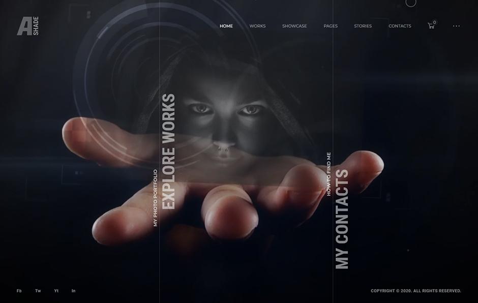 Ashade Full Screen Photography and Creative Agency WordPress Theme