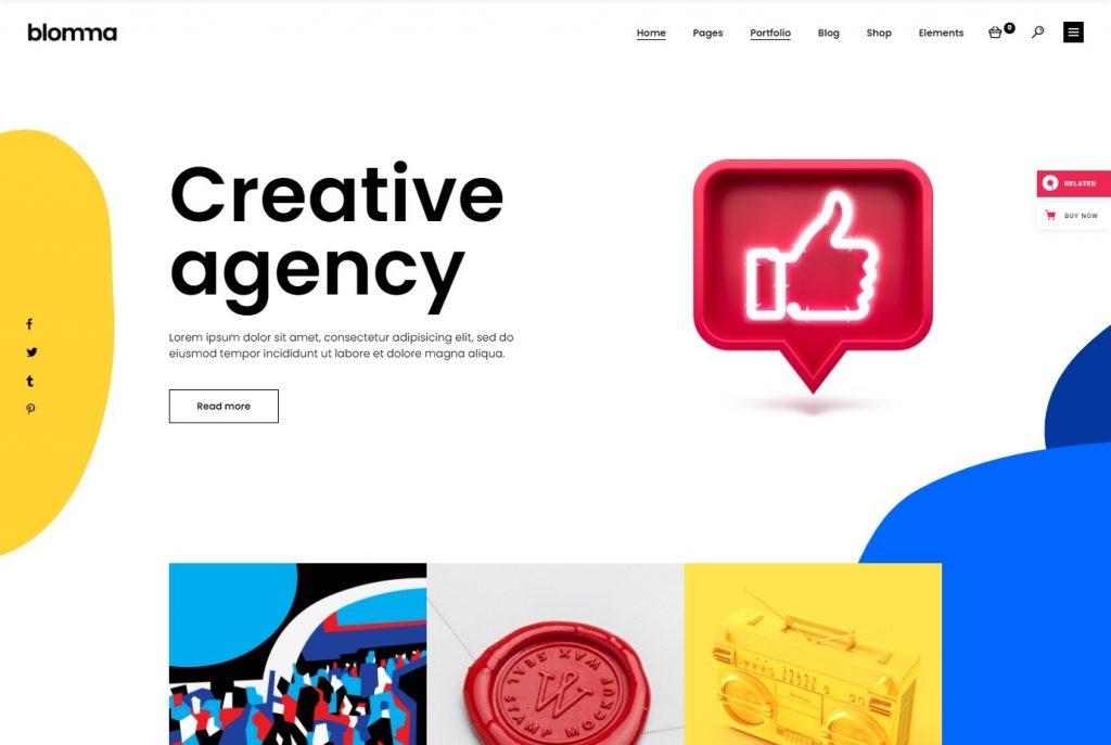 Blomma Creative Agency and Graphic Design Portfolio Theme