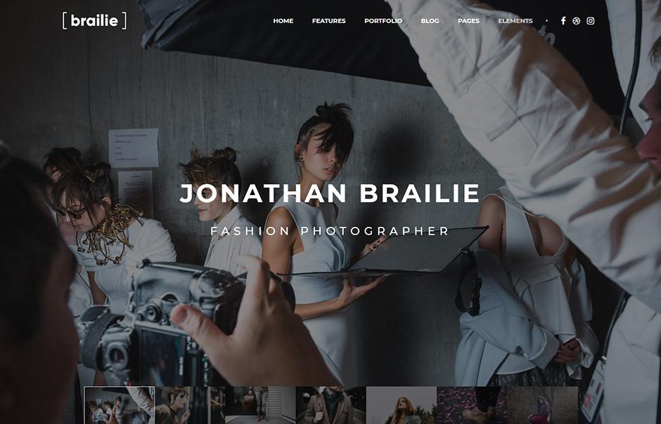 Brailie Responsive Creative Photography Agency WordPress Theme